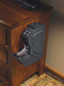 GunVault-SV-500-SpeedVault-Handgun-Safe-side-table