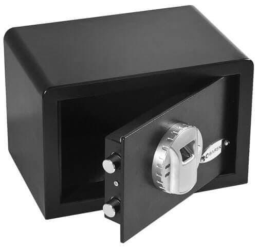 BARSKA Mini Biometric Safe Open