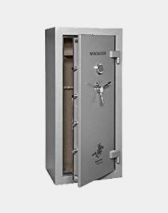 Winchester Ranger Deluxe 1 Hour Fire Safe - 24 Rifle Safe - R19 - Grey - Group II UL Listed S&G Mechanical Lock Standard - Door Panel Organization Included - 1 Hour 1400 Degree Rating - Three Layers Of 1/2 Inch Fireboard In The Door - Palusol Heat Expandable Door Seal - UL Listed For Burglary - 12 Gauge Body Construction Review