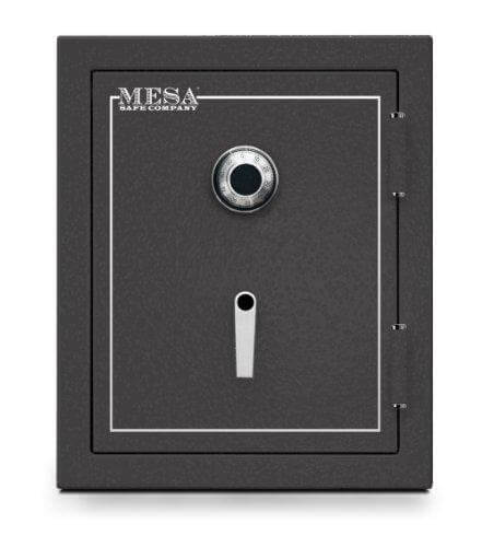 Mesa Safe MBF2620C All Steel Burglary and Fire Safe with Combination Lock, 4.1-Cubic Feet, Hammered Grey