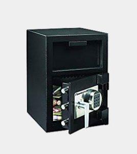 Sentry Safe DH109E Depository Safe, 1.09 ft3, 14w x 15-3/5d x 24h, Black (SENDH109E) Review