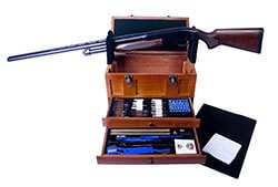 Gunmaster Wooden Toolbox with Universal Select Gun Cleaning Kit (63-Piece)