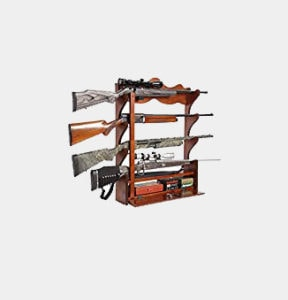 American Furniture Classics 840 4 Gun Wall Rack, Medium Brown Review