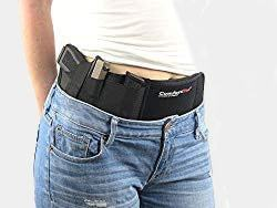 Ultimate Belly Band Holster for Concealed Carry | Black | Fits Gun Smith and Wesson Bodyguard, Glock 19, 42, 43, P238, Ruger LCP, and Similar Sized Guns | For Men and Women (left) Review