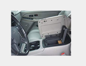 Console Vault Chevrolet Silverado Floor Console 2003-2006 - 1002 - Massive 12 Gauge Cold Rolled Plate Steel, Welded Tab And Notch Seams - Superior 3 Point Locking System Resists Prying - Drill Resistant Locks - Easy 10 Minute Installation