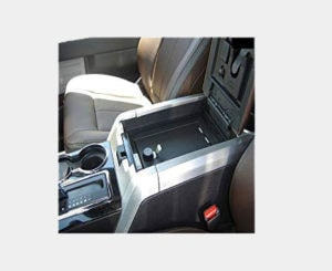Console Vault Floor Console Gun Safe for 12-13 Ford F-150 w/ Barrel Lock Key