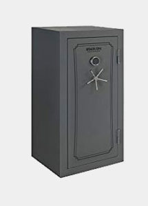 Stack-On TD-40-GP-E-S Total Defense 36-40 Gun Safe with Electronic Lock, Gray Pebble