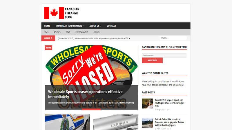 Canadian Firearms Blog