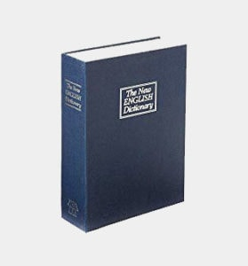 Trademark Home Dictionary Diversion Book Safe with Key Lock, Metal, Dark Blue - Full Size Review