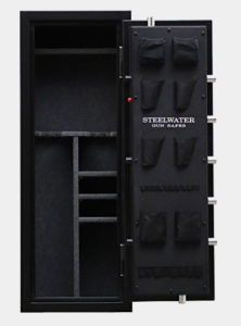 NEW and IMPROVED Steelwater Standard Duty 16 Long Gun Fire Protection for 60 Minutes AMEGS592216-BLK